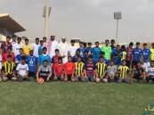 طلاب ثانوية الملك خالد في زيارة للمدينة الرياضية