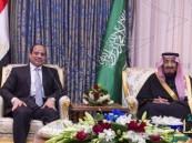 خادم الحرمين الشريفين يستقبل رئيس جمهورية مصر العربية