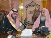 """المفتي والشيخ الفوزان يستقبلان """"السديري"""" نائب وزير الشؤون الإسلامية"""