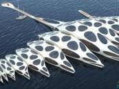 بالصور.. فندق عائم على شكل عمود فقري يمكنه الانتقال عبر المحيط