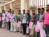 """100 حقيبة شتوية وزعها """"العيون"""" التطوعي بمبادرة """"شتاؤنا دافئ"""""""