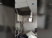 """بالفيديو… سقوط جزء من سقف مكتب بأوقاف #الأحساء .. و""""الهاشم"""" يوضّح"""