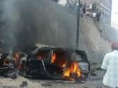شاهد.. اللحظات الأولى لتفجير مركبة محافظ #عدن .. وداعش يتبنى الانفجار