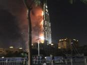 بالفيديو والصور … حريق ضخم يلتهم أحد الفنادق بدبي القريبه من برج خليفة (تحديث)