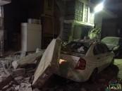 بالصور.. أنبوب غاز ينفجر بمسكن آسيوي بالدمام ويصيبه بجروح