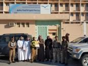"""ثانوية """"بقيق"""" تُكرم رجال الأمن لقضائها على ظاهرة التفحيط خلال الاختبارات"""