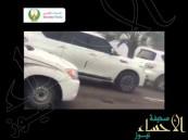 شاهد.. تصادم أكثر من 70 سيارة على طريق أبوظبي-العين