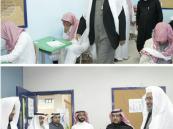 """مدير التعليم """"بالغنيم"""" يثني خلال زيارته على ثانوية """"سعد بن عبادة"""""""
