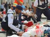 بالفيديو والصور.. 24 شخص في خطة كوارث خارجية بمستشفى الموسى التخصصي