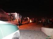 """بالصور.. في #الأحساء : الإطاحة بوكر """"التفّحيط"""" على طريق خط قطر"""
