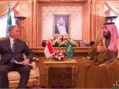 ولي ولي العهد يجتمع بوزير دفاع إندونيسيا ويبحثان سبل التعاون العسكري