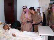 """بالصور.. سمو الأمير بدر بن جلوي يزور مصابي حادث """"الرضا"""" وموقع التفجير"""