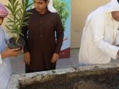 (الشجرة عطاء) برنامج توعوي بمتوسطة أبو عبيدة