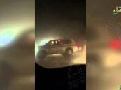 """بالفيديو … في #الأحساء نهاية مأساوية جدًا لـ""""درباوي"""" خطير طاردته دورية"""