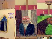 """بالصور.. بنت الأحساء """"الغنيم"""" تبدع في رسم لوحات تحاكي الواقع"""