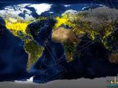 شاهد .. مقطع مذهل يرصد حركة الطائرات حول العالم في 24 ساعة فقط !