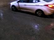"""بالفيديو … زخات """"البرد"""" وأمطار الخير تعم قرى #الأحساء"""