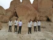 """مدرسة """"الوليد بن عبدالملك"""" في أحضان """"جبل القارة"""""""