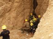 بالصور .. انتشال جثة خمسيني سقط في بئر عمقها 150 متراً بالخرج