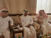 """بالصور… سمو رئيس اللجنة السعودية لسباقات الهجن يستقبل """"آل نهيان"""""""