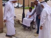 """بالصور.. """"المجلس البلدي"""" يجهّز  #جبل_القاره لاستقبال معاقي #الأحساء"""