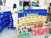 ضبط مركبتين حاولتا تهريب 2874 زجاجة مسكر خارجي إلى الرياض