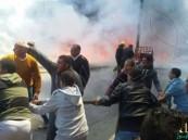 """بالفيديو والصور.. لحظة انفجار حافلة """"وقود"""" وسط المواطنين بالإسكندرية !"""