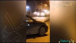 """بالفيديو.. في #الأحساء تفحيط """"عيني عينك"""" أمام المساكن.. ومناشدات بالمواجهة !"""