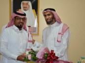 """مركز بر الصالحية يكرم الموظف """"البراهيم"""" على هامش لقاءه الترفيهي الأول"""