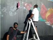 ورشة للرسوم الجدارية تتجلى بثقافة وفنون #الأحساء