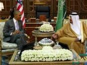 خادم الحرمين يستقبل الرئيس الأمريكي ويعقد معه جلسة مباحثات