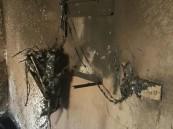 بالصور.. احتجاز أسرة واختناق أحد أطفالها بحريق منزل في #الأحساء