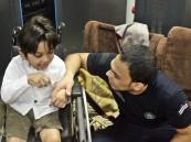 ذوي الإعاقة بالأحساء يشاركون رجال الدفاع المدني وجبة الإفطار