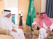 ولي العهد يبحث مع وزير داخلية البحرين العلاقات الأخوية بين البلدين