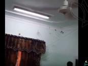 بالفيديو.. سرب خفافيش يخرج من مكيف أحد المواطنين !!
