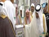 خادم الحرمين يستقبل الدكتور السديس ونائبه لشؤون المسجد الحرام ومؤذني الحرم المكي