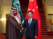 بالصور.. #ولي_ولي_العهد يلتقي في #بكين نائب رئيس وزراء #الصين ..