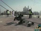 """شاهد.. شرطة دبي تكشف حقيقة مقطع  """"المقلاع البشري"""" !"""