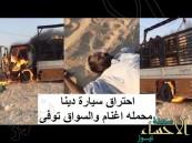 """بالفيديو … شاب يعرض حياته للخطر وينقذ """"مواشي"""" من الموت"""