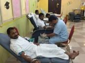"""بالصور.. """"من الكرم التبرع بالدم"""" تجمع 344 متبرعاً بعد 3 أيام من النجاح"""