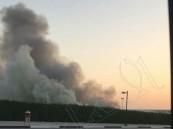 """بالصور… اندلاع حريق في """"برتبل"""" في أمانة #الأحساء"""