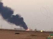 """وفاة و10 إصابات في حريق خزان بترول خام داخل محطة أرامكو ب""""الوسيع"""""""