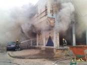الدفاع المدني ينقذ ٢٠٠ شخص بعد حريق بناية في شارع النجاح بالأحساء