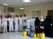 بالصور… استمرار حملة التطعيم ضد الأنفلونزا في منازل الأحساء