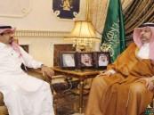 عبدالله بن مساعد يستقبل أمين اللجنة الوطنية لمكافحة المخدرات