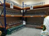 بالصور.. جمرك جسر الملك فهد ينجح في إحباط تهريب أكثر من 350 زجاجة خمر