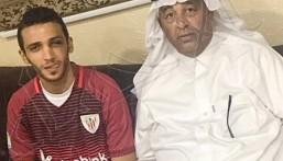 """عضو الاتحاد السعودي """"الجاسم"""" يزور لاعب #العيون """"العساف"""""""