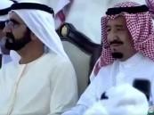 شاهد بالفيديو .. خادم الحرمين يشرّف حفل مهرجان زايد التراثي