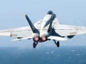 سقوط مقاتلة أمريكية في البحر و فقدان طيارها