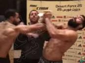 بالفيديو.. المصارع المصري يكشف جنسية المصارع الذي تشاجر معه: ليس سعودياً!!